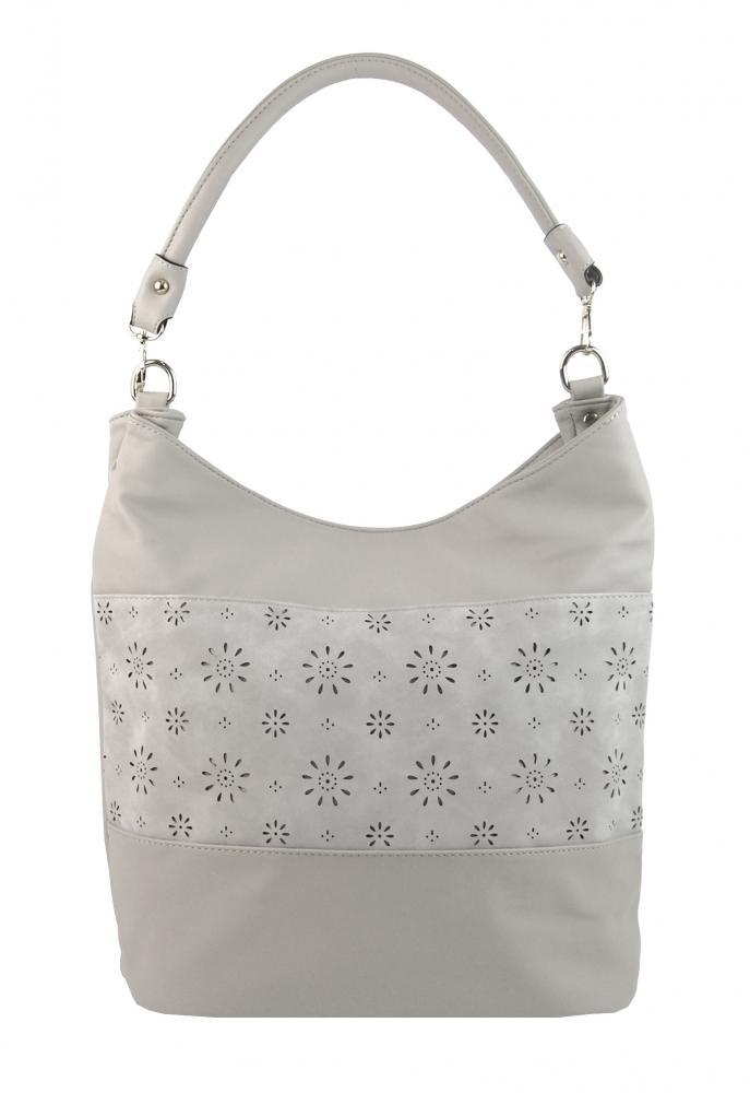 Kombinovaná dámska kabelka so vzorom NH6075 svetlo sivá