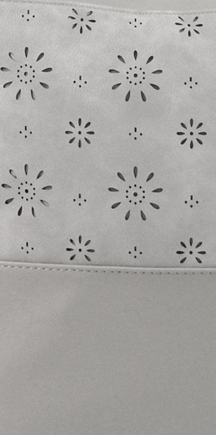Kombinovaná dámská kabelka se vzorem NH6075 světle šedá