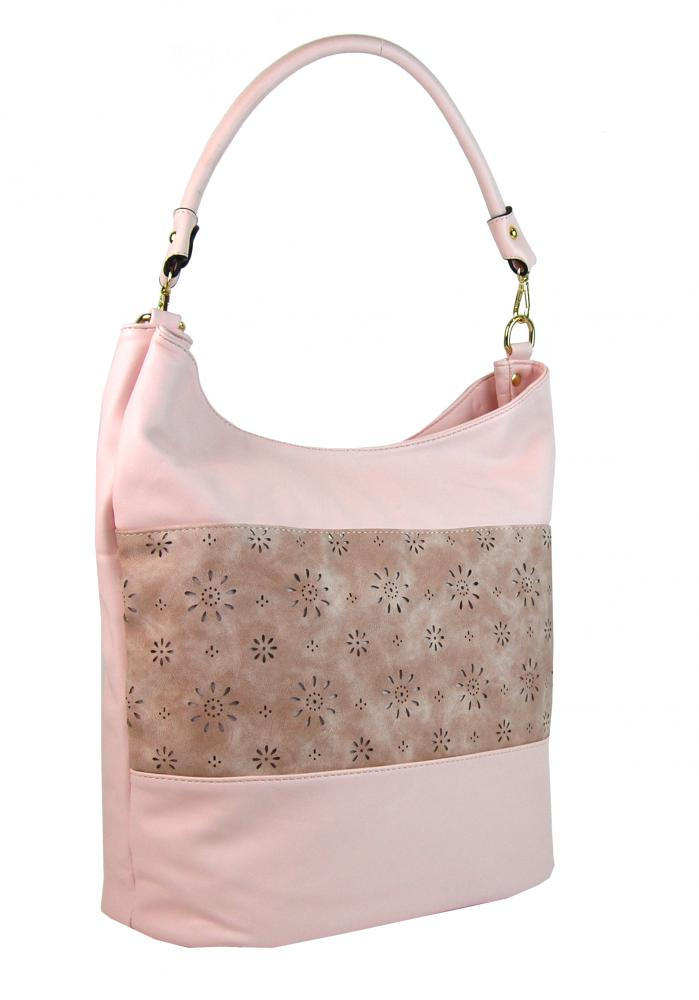 Kombinovaná dámská kabelka se vzorem NH6075 růžová
