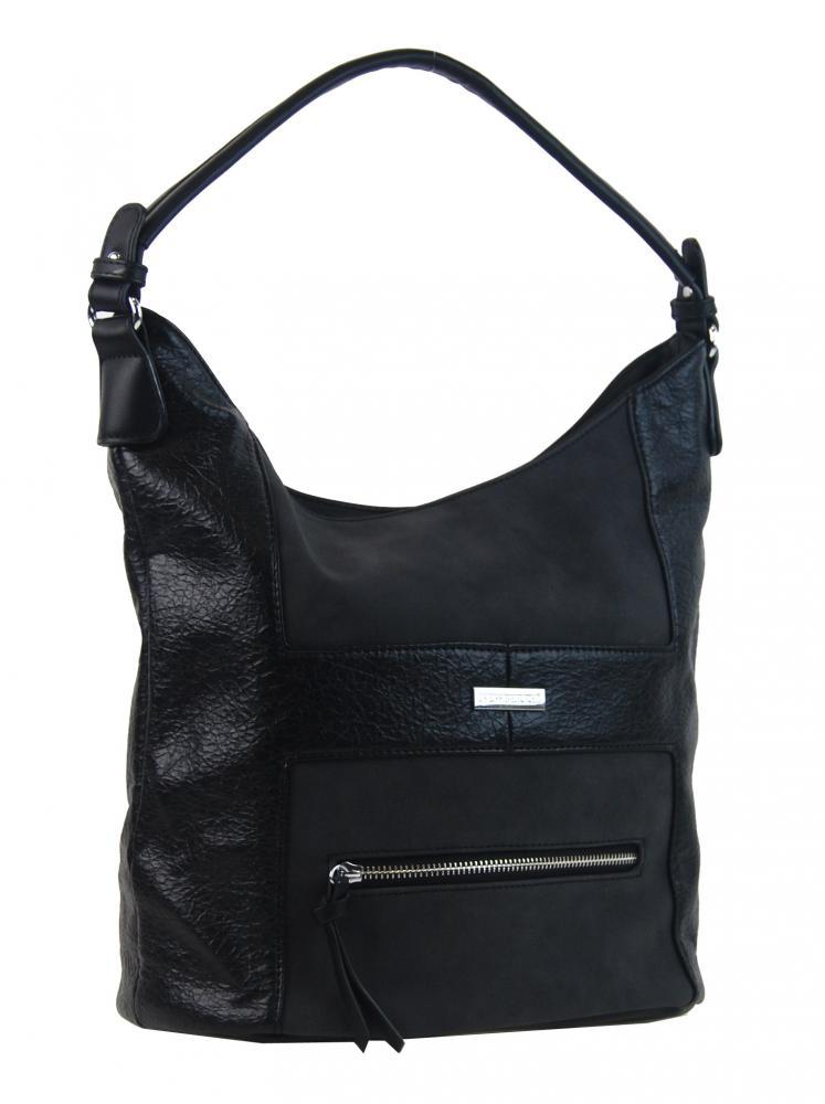 Elegantní kombinovaná dámská crossbody kabelka NH8023 černá