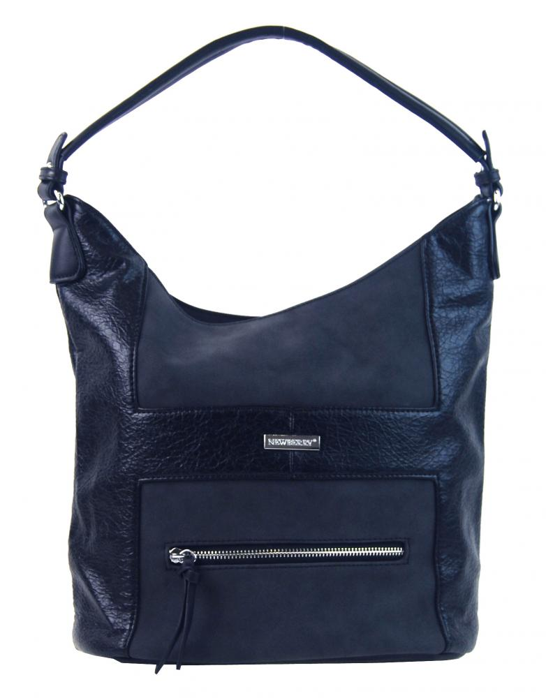 Elegantní kombinovaná dámská crossbody kabelka NH8023 modrá