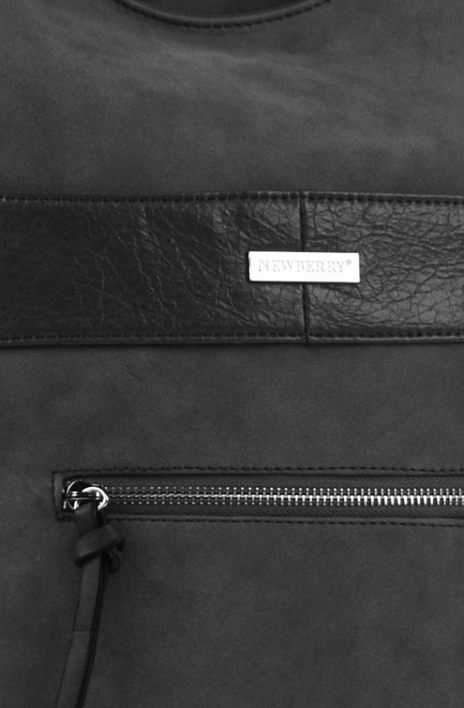 Elegantní kombinovaná dámská crossbody kabelka NH8023 tmavší šedá