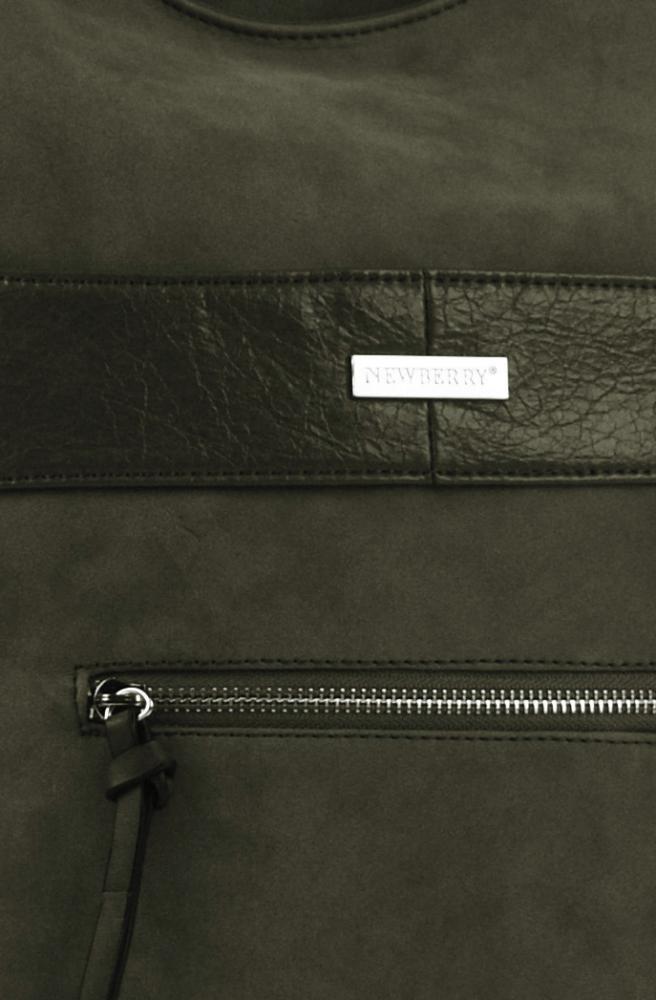 Elegantní kombinovaná dámská crossbody kabelka NH8023 zelená