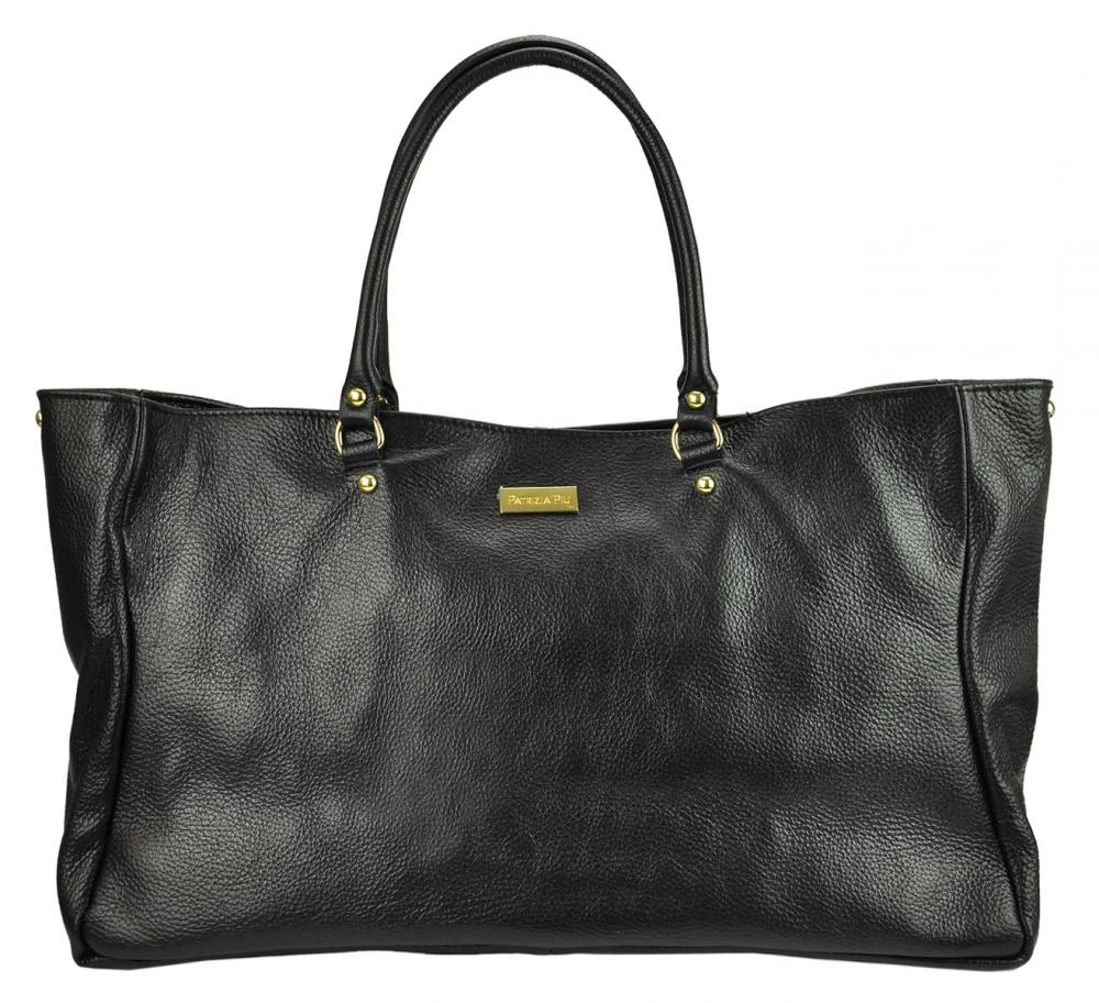 Velká kožená dámská kabelka Patrizia Piu černá