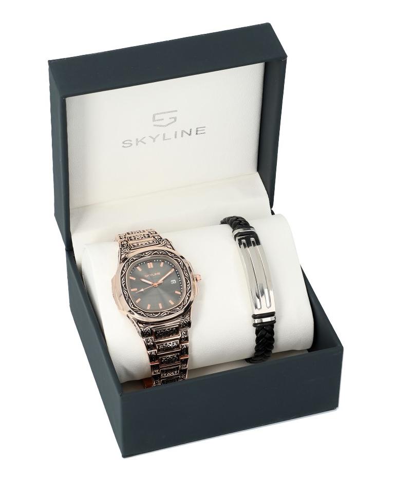SKYLINE pánska darčeková sada hodinky s náramkom 2850-13