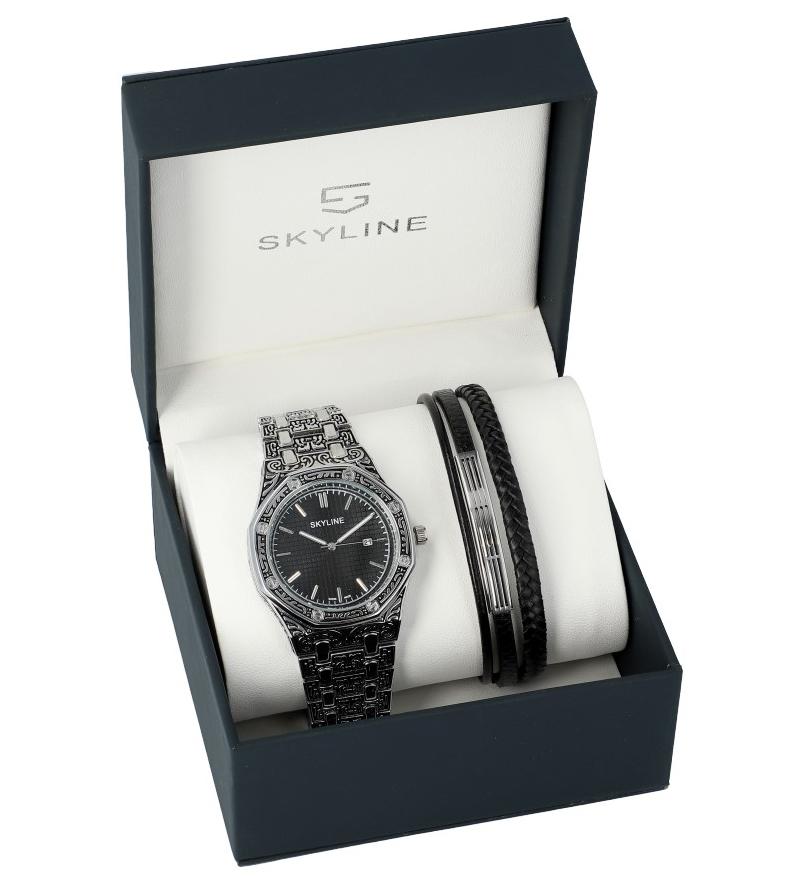 SKYLINE pánska darčeková sada hodinky s náramkom 2850-2