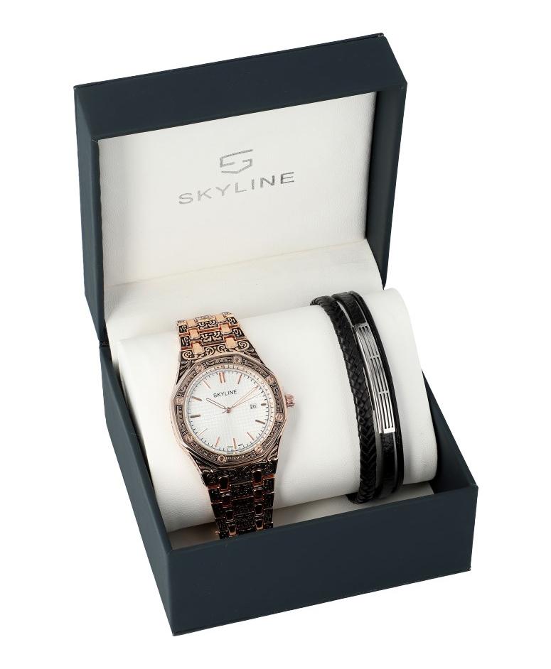 SKYLINE pánská dárková sada hodinky s náramkem 2850-3