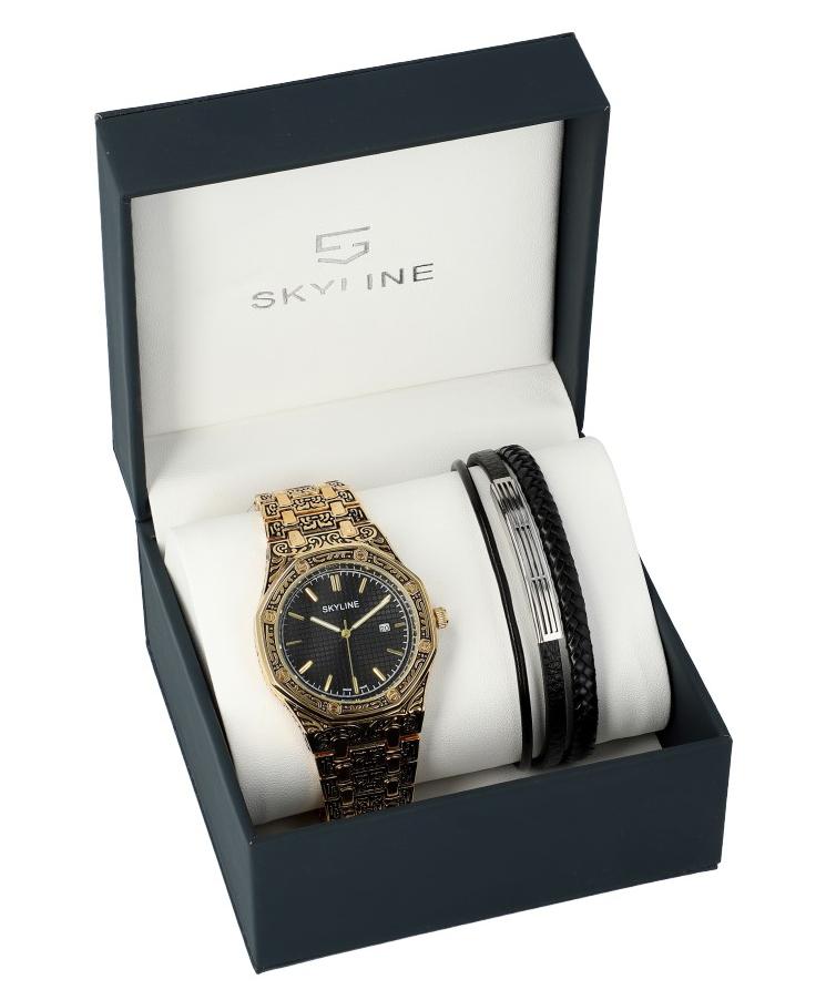 SKYLINE pánska darčeková sada hodinky s náramkom 2850-4