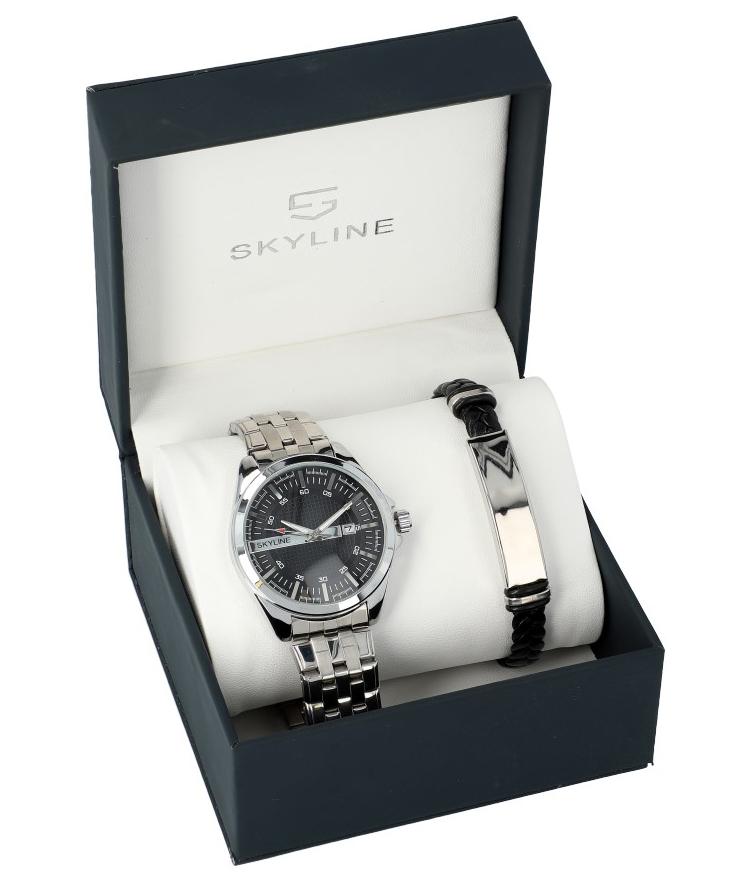 SKYLINE pánska darčeková sada hodinky s náramkom 2850-5