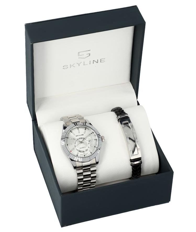 SKYLINE pánska darčeková sada hodinky s náramkom 2850-6