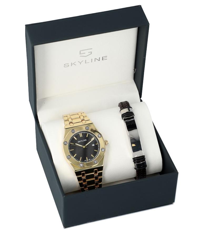 SKYLINE pánska darčeková sada hodinky s náramkom 2850-7