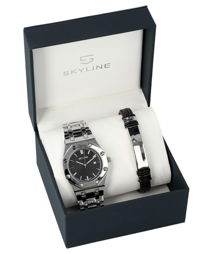 SKYLINE pánska darčeková sada hodinky s náramkom 2850-8