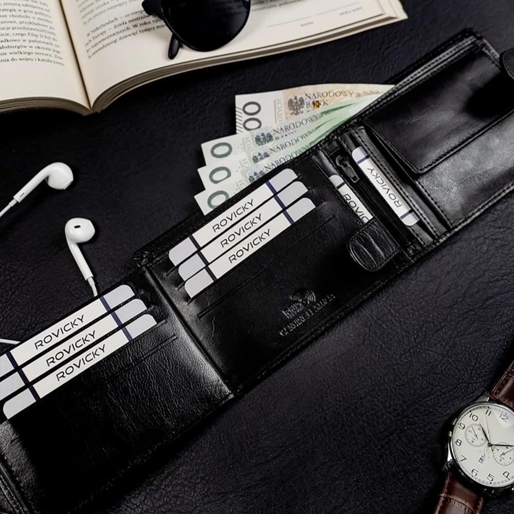 ROVICKY Dárková pánská luxusní sada kožený opasek a peněženka