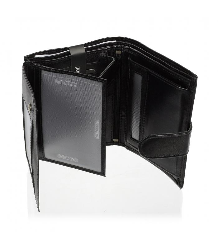 Bellugio černá pánská kožená peněženka v krabičce RFID