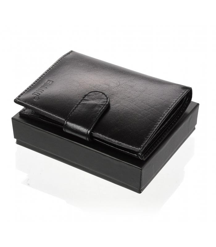 Ellini černá pánská kožená peněženka v dárkové krabičce RFID