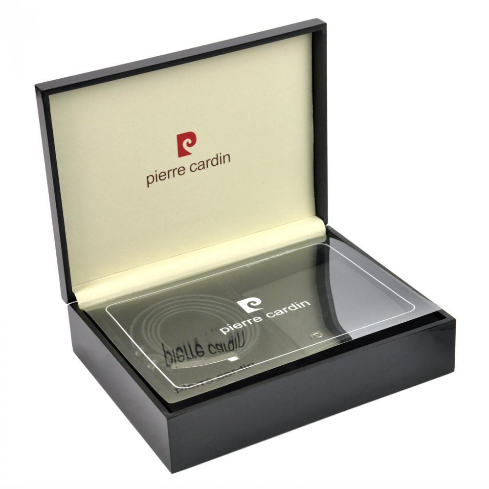 Pierre Cardin Dárková pánská luxusní sada kožený opasek a peněženka