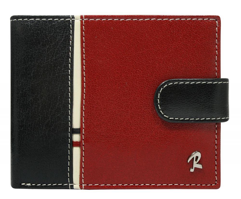 ROVICKY Černo-červená kožená pánská peněženka RFID v krabičce