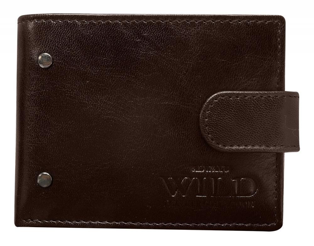 Kožená hnědá menší pánská peněženka RFID v krabičce ALWAYS WILD