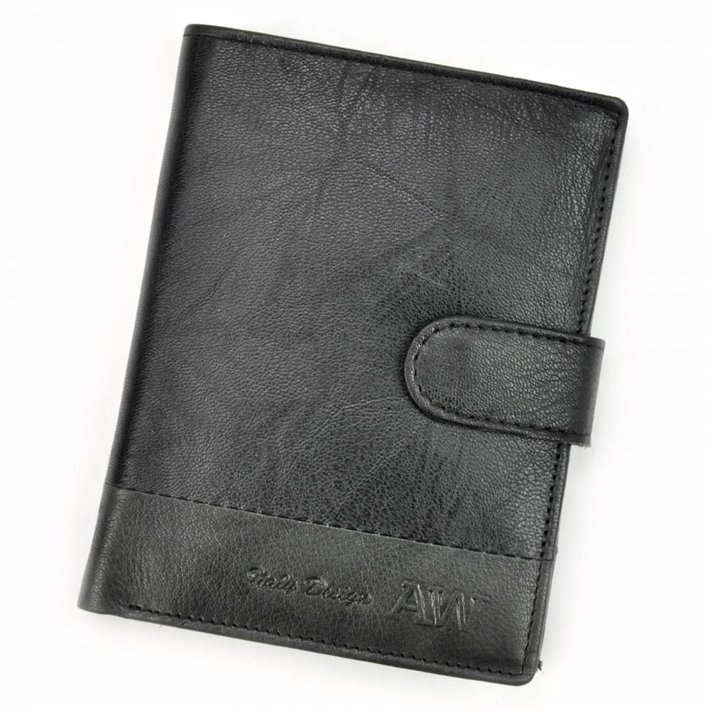 Kožená černá pánská peněženka RFID WILD