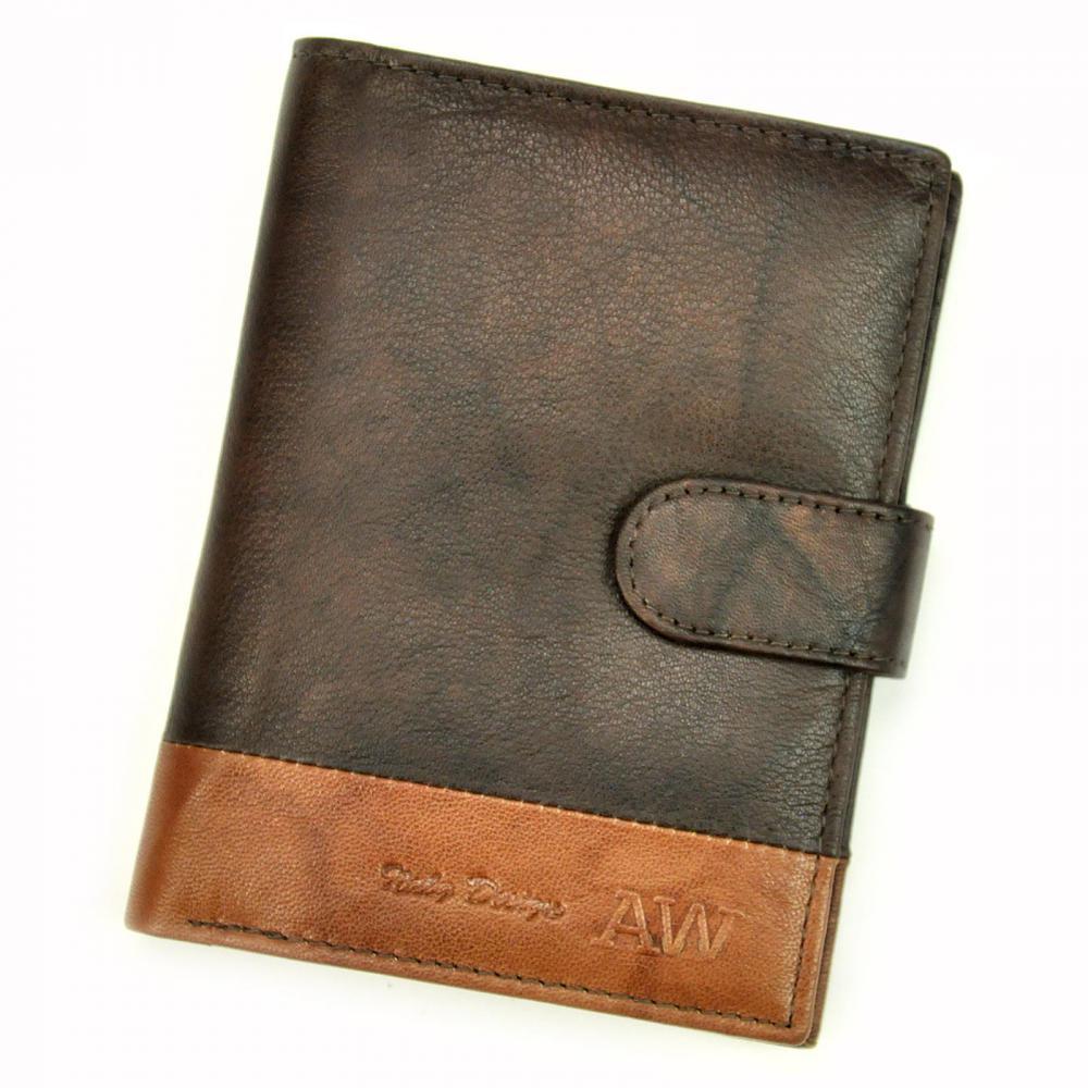 Kožená hnedá pánska peňaženka RFID WILD