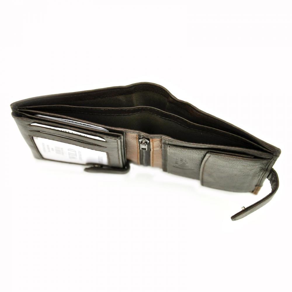 Kožená modrá pánska peňaženka RFID WILD