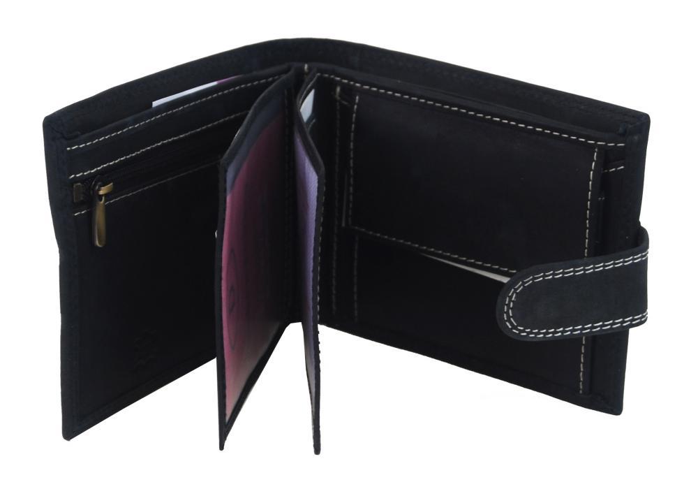Pánská peněženka z broušené kůže WILD 987 černá