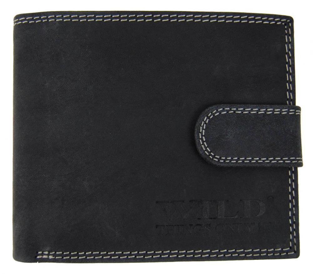 Pánska peňaženka z brúsenej kože WILD 987 čierna