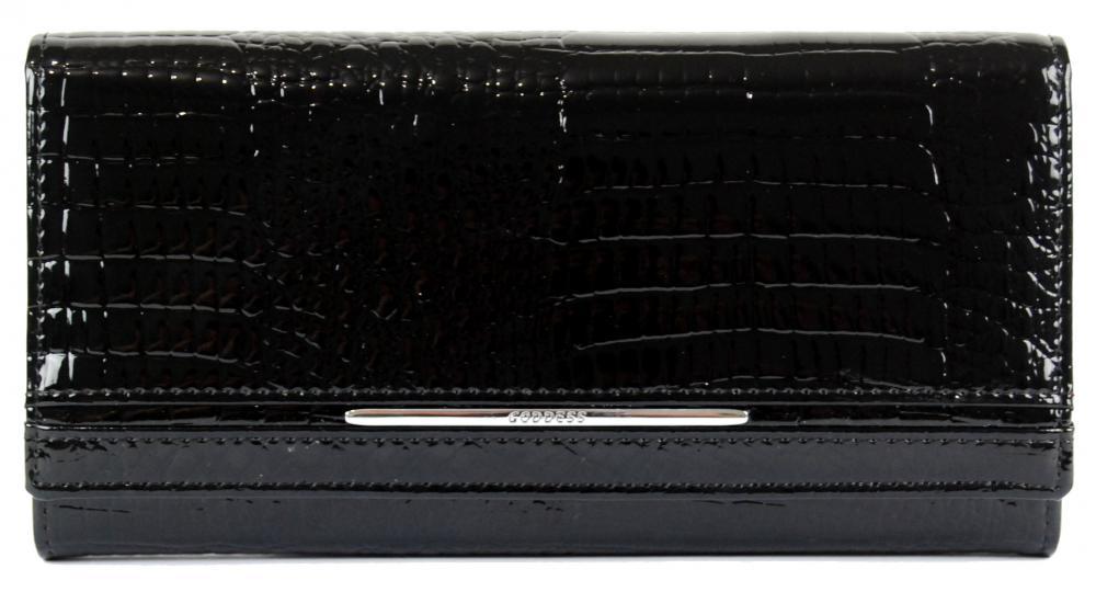 Dámska kožená peňaženka v krabičke Cossroll 02-5242-2 čierna