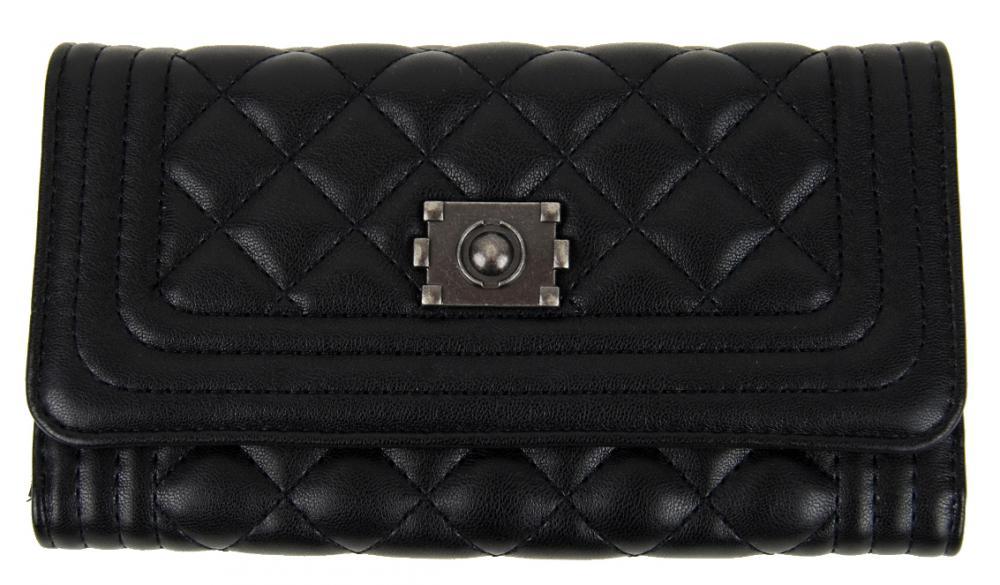 Prešívaná dámska peňaženka DF029 čierna