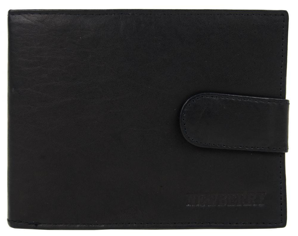 Pánska peňaženka z bravčovej kože New Berry 885 čierna