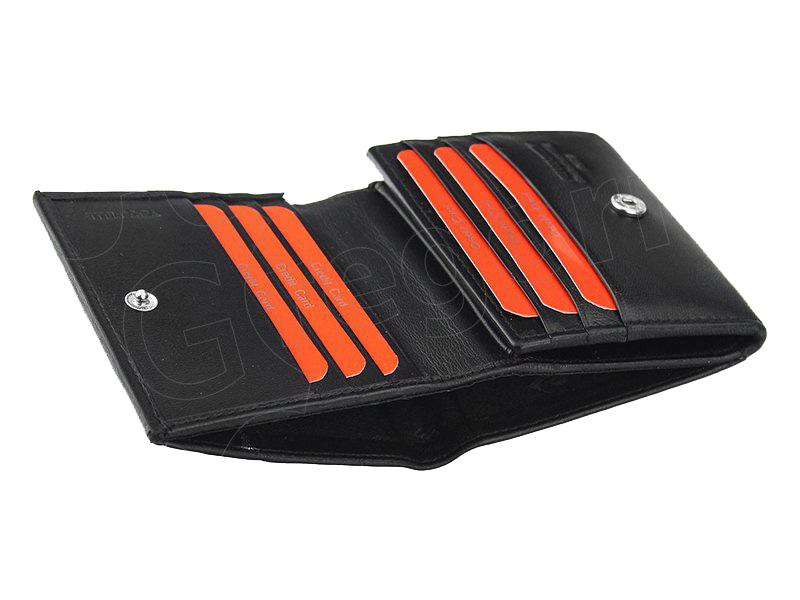 Pierre Cardin čierno-gaštanová pánska kožená peňaženka v krabičke