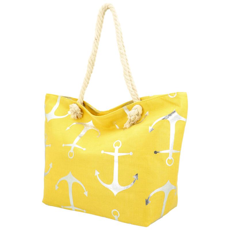 Veľká moderná plážová taška žltá 21506
