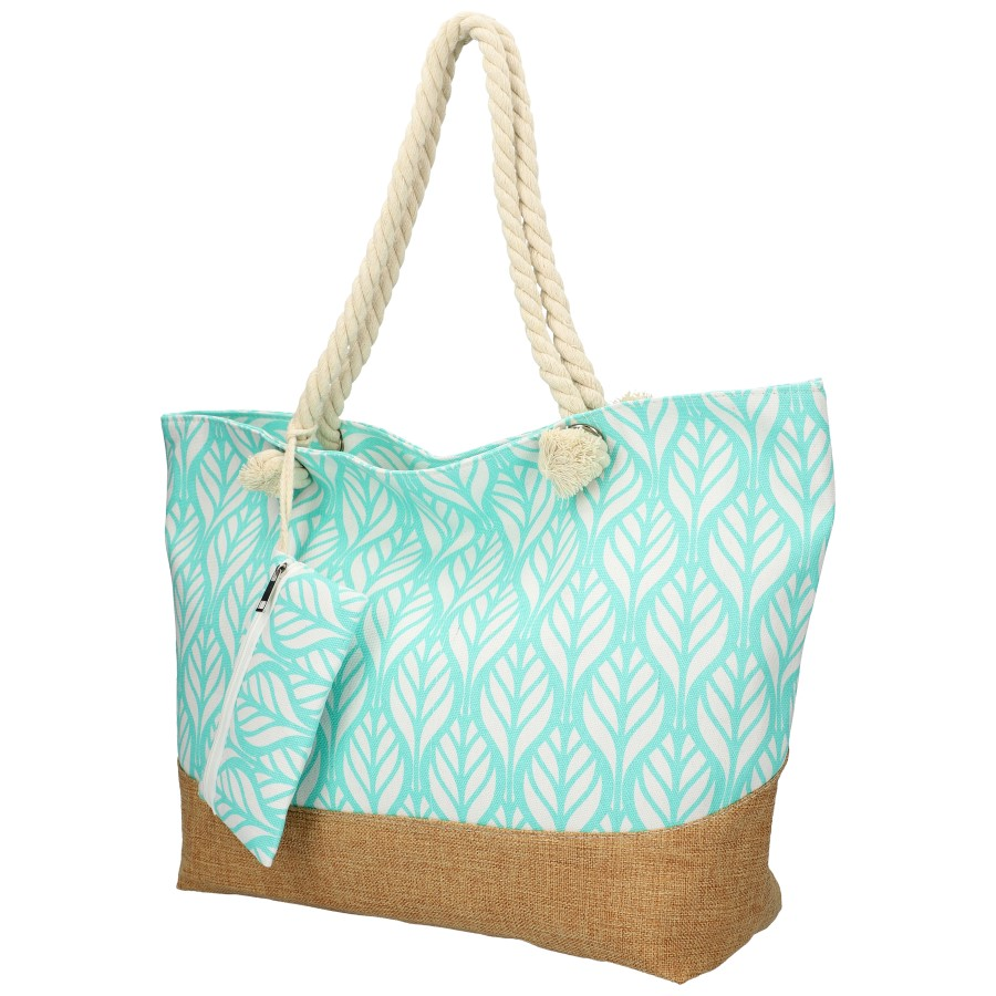 Veľká tyrkysová plážová taška cez rameno B6803