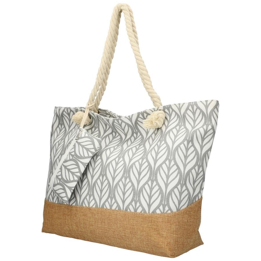 Veľká šedá plážová taška cez rameno B6803