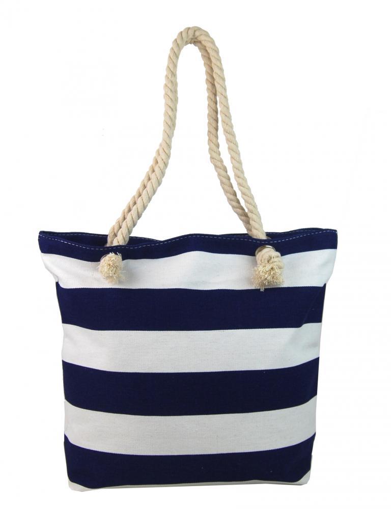 Modro-biela ľahká plážová taška cez rameno FB-01