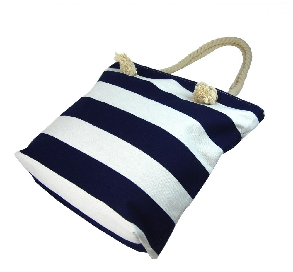 Modro-bílá lehká plážová taška přes rameno FB-01