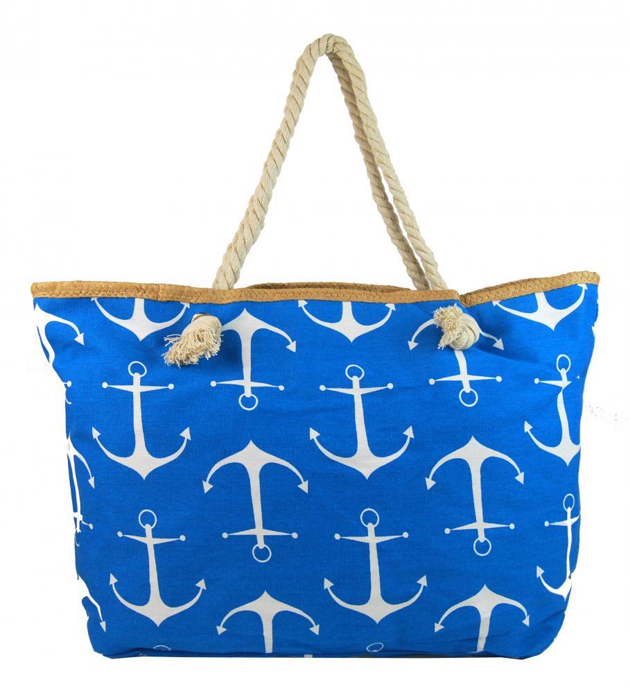 Velká modrá lehká plážová taška přes rameno H-106-2