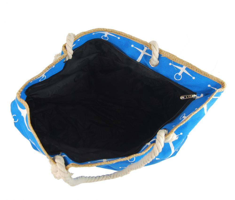 Veľká modrá ľahká plážová taška cez rameno H-106-2