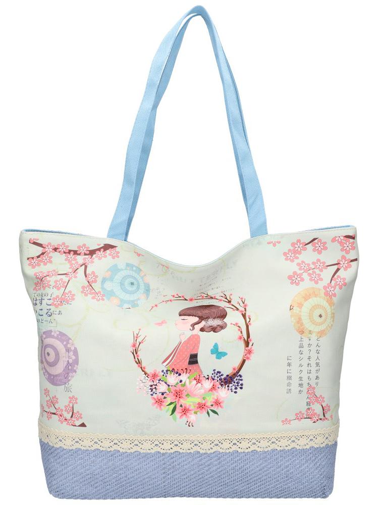 Sweet & Candy Veľká plážová taška s potlačou M3