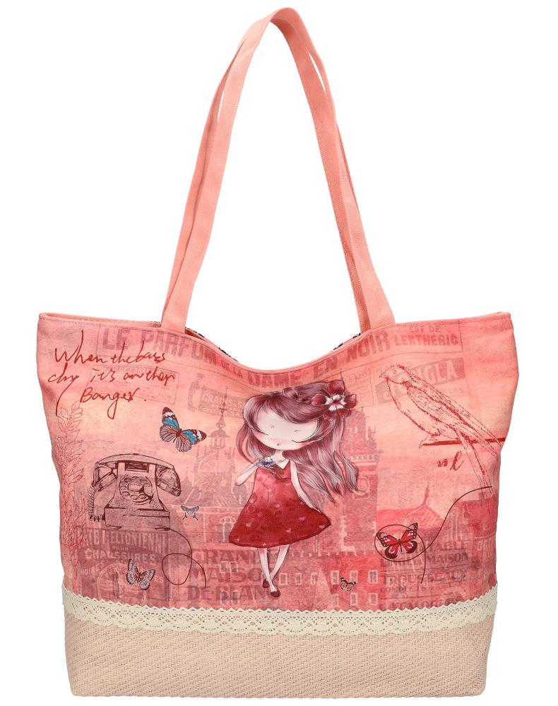 Sweet & Candy Velká plážová taška s potiskem M4