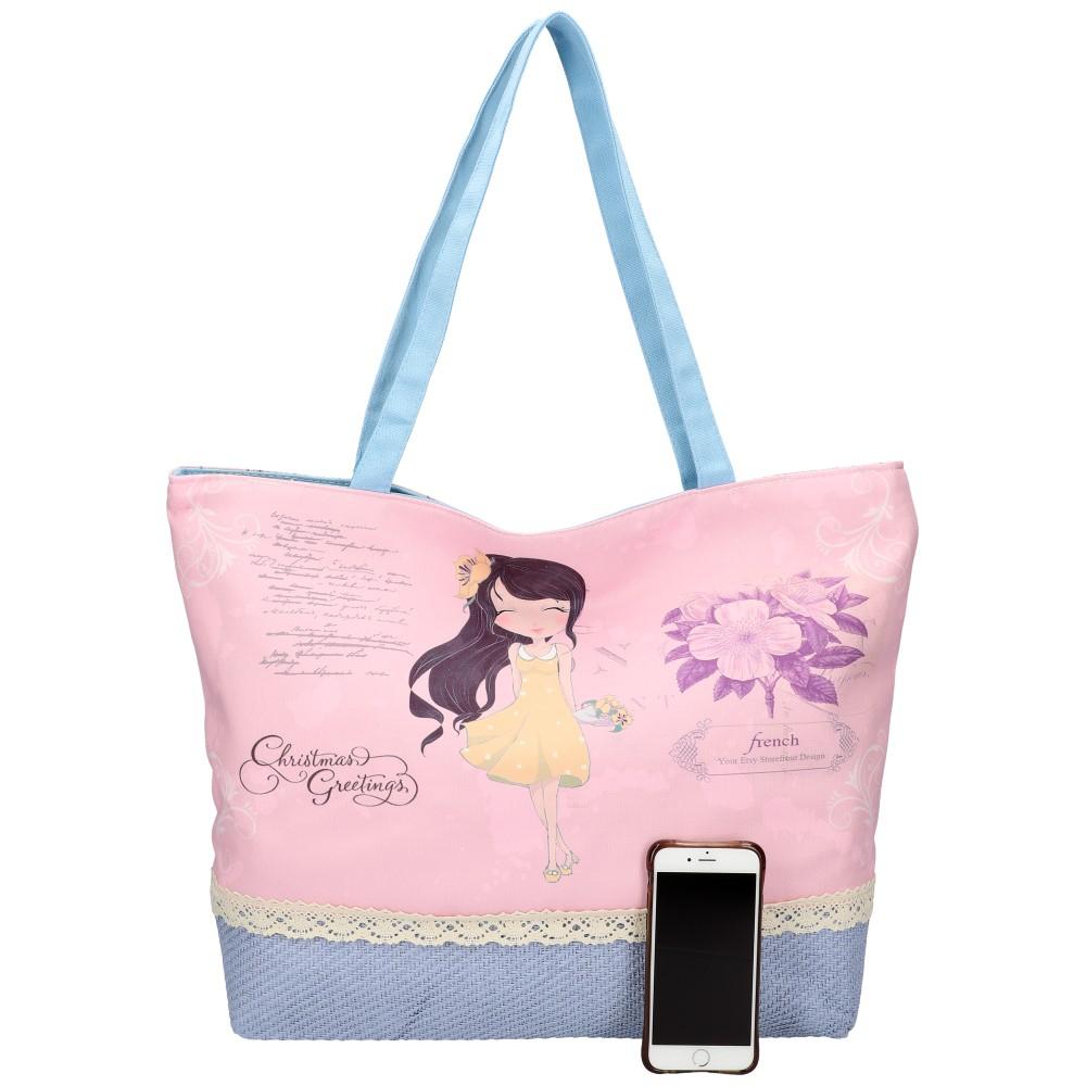 Sweet & Candy Veľká plážová taška s potlačou M1