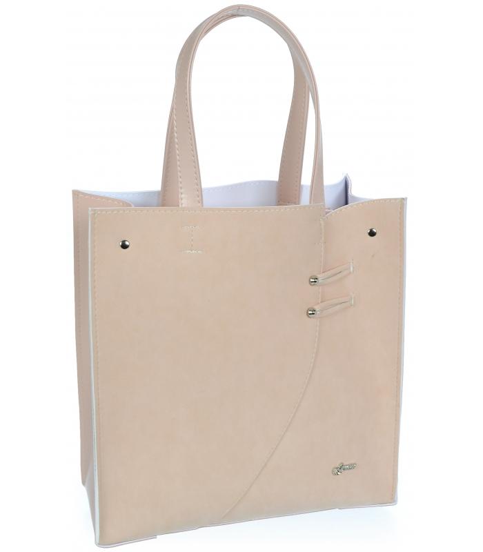 Růžová moderní obdélníková dámská kabelka S753 GROSSO