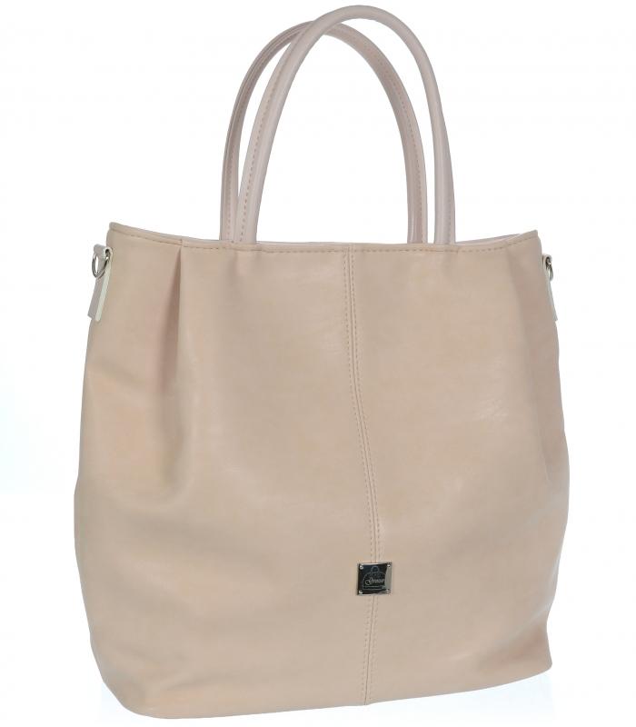 GROSSO Shopper dámská kabelka pudrová S737