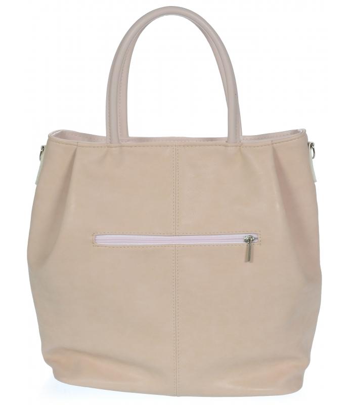 Pudrová matná prostorná dámská kabelka S737 GROSSO