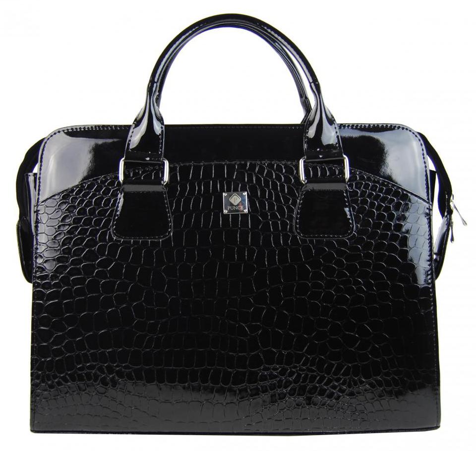 PUNCE Černá dámská taška na notebook do 15.6 palce