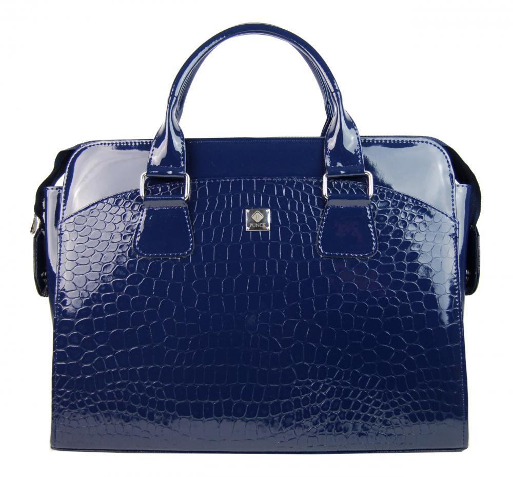 PUNCE LC-01 modrá dámska kabelka pre notebook do 15.6 palca
