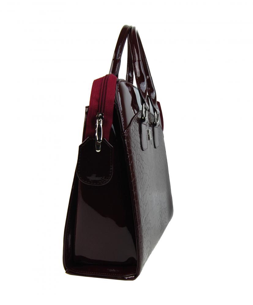 PUNCE LC-01 bordová dámská kabelka pro notebook do 15.6 palce