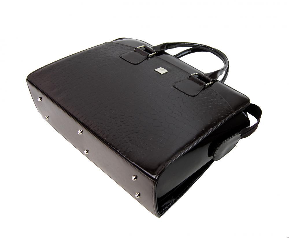 PUNCE LC-01 tmavohnedá dámska kabelka pre notebook do 15.6 palca