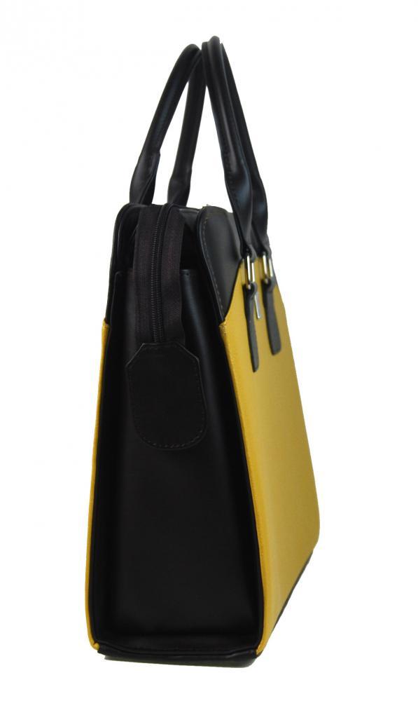 PUNCE LC-01 hořčicově žlutá dámská kabelka pro notebook do 15.6 palce