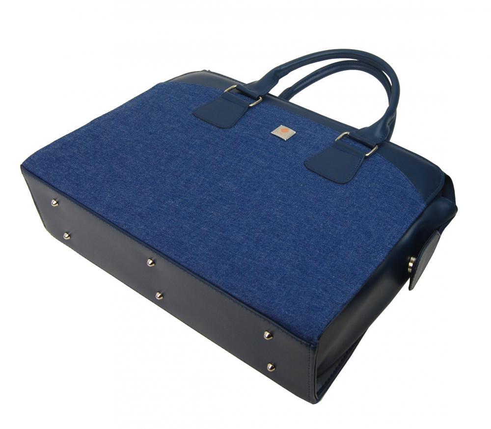 PUNCE LC-01 džínsová modrá dámska kabelka pre notebook do 15.6 palca